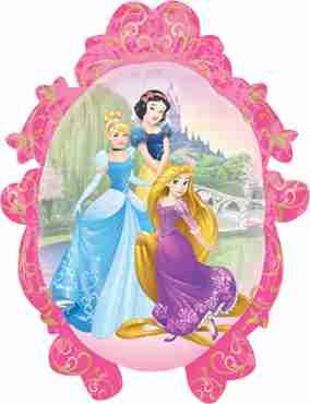 Princess Classic Frame Vendor Foil Shape 20in/51cm x 27in/69cm