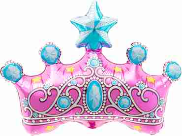 princess crown foil shape 14in/35cm