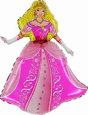 Princess Foil Shape 36in/90cm