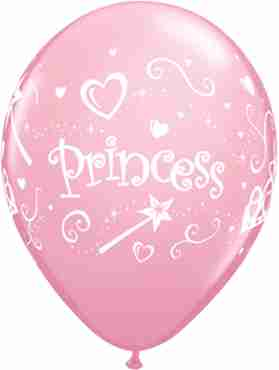 princess standard pink latex round 11in/27.5cm