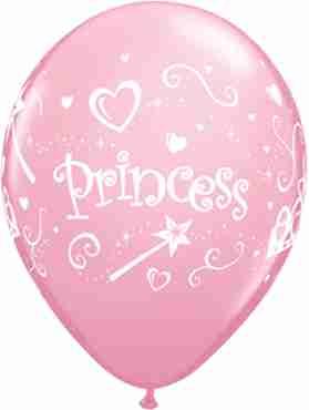 Princess Standard Pink Latex Round 11in/27.5cm