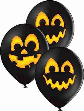 Pumpkins Pastel Black Latex Round 12in/30cm