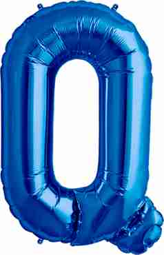 Q Blue Foil Letter 16in/40cm