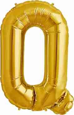 Q Gold Foil Letter 16in/40cm