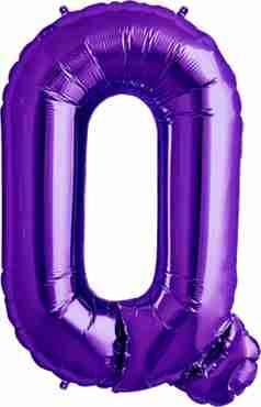 Q Purple Foil Letter 34in/86cm