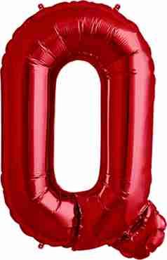 Q Red Foil Letter 34in/86cm