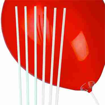 Qualatex 16in/40cm White Balloon Straws