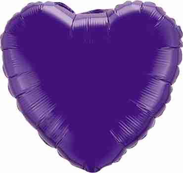 Quartz Purple Foil Heart 18in/45cm