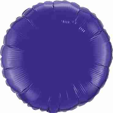 quartz purple foil round 18in/45cm