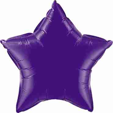 Quartz Purple Foil Star 20in/50cm