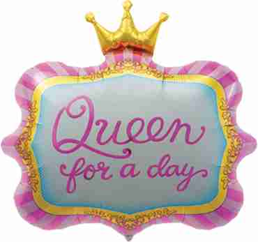 queen for a day foil shape 23in/58cm