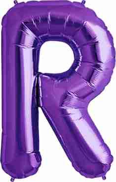 R Purple Foil Letter 34in/86cm