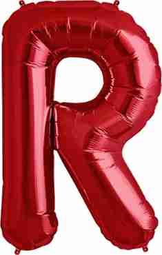 R Red Foil Letter 34in/86cm