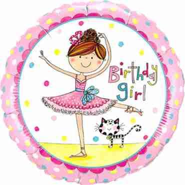 Rachel Ellen - Birthday Girl Ballerina Foil Round 18in/45cm