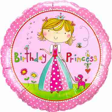 Rachel Ellen - Birthday Princess Foil Round 18in/45cm