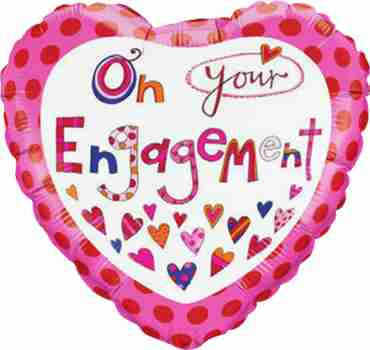 Rachel Ellen - Engagement Foil Heart 18in/45cm