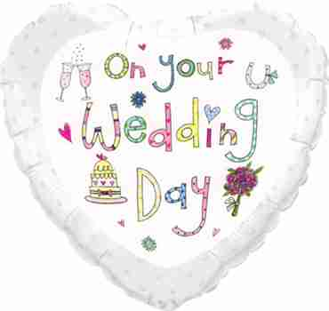 rachel ellen - wedding foil heart 18in/45cm