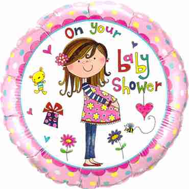 rachel ellen – on your baby shower foil round 18in/45cm