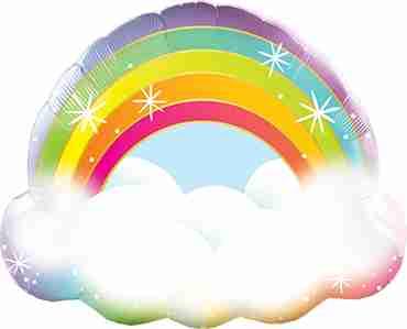 Rainbow Foil Shape 32in/80cm