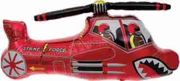 Red Chopper Foil Shape 36in/91cm