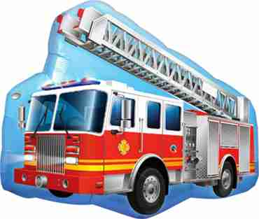 Red Fire Truck Foil Shape 40in/100cm