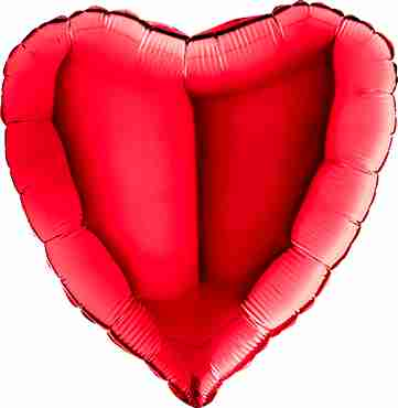 Red Foil Heart 18in/45cm