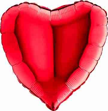 Red Foil Heart 36in/90cm
