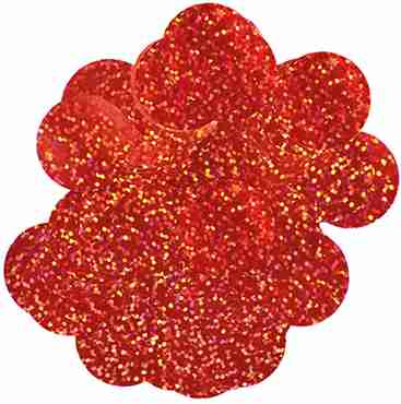 Red Holographic Metallic Round Foil Confetti 10mm 14g