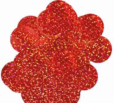 Red Holographic Metallic Round Foil Confetti 25mm 14g