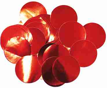 Red Metallic Round Foil Confetti 10mm 50g