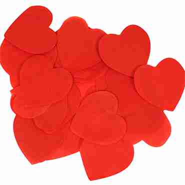 Red Paper Heart Confetti (Flame Retardant) 30mm 100g