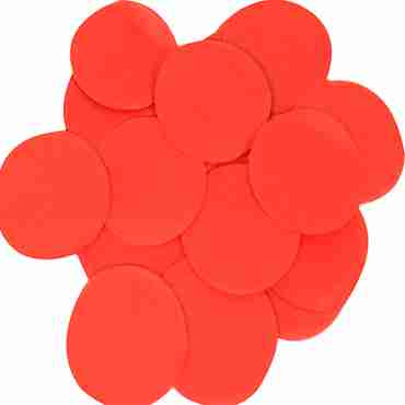 Red Paper Round Confetti (Flame Retardant) 15mm 14g