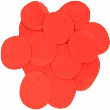 Red Paper Round Confetti (Flame Retardant) 25mm 100g
