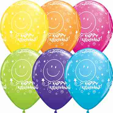 Retirement! Smile Face Retail Assortment Latex Round 11in/27.5cm