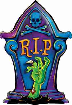 R.I.P. Tombstone Foil Shape 36in/90cm