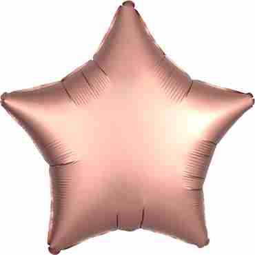 Rose Copper Satin Luxe Foil Star 17in/43cm