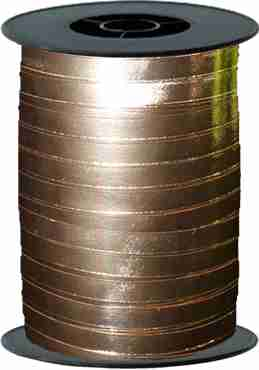 rose gold metallic curling ribbon 5mm x 250 mm