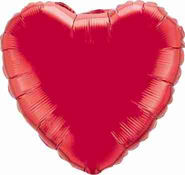Ruby Red Foil Heart 36in/90cm