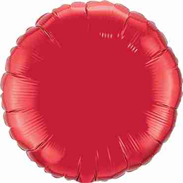 Ruby Red Foil Round 18in/45cm