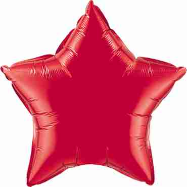 Ruby Red Foil Star 36in/90cm