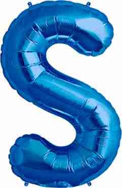 S Blue Foil Letter 34in/86cm