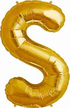 S Gold Foil Letter 16in/40cm