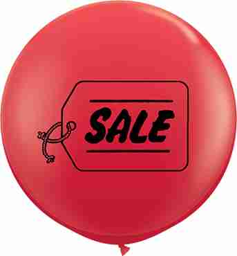 Sale Standard Red Latex Round 36in/90cm