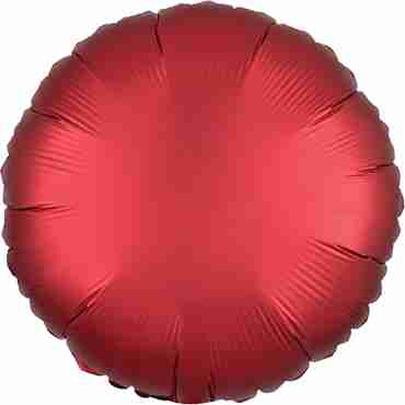 Sangria Satin Luxe Foil Round 17in/43cm