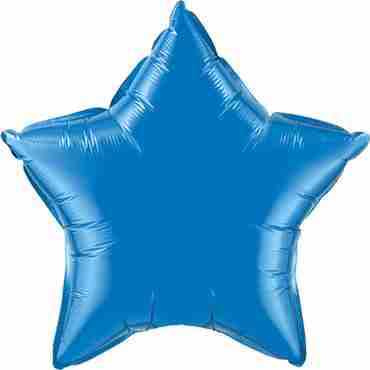 Sapphire Blue 6 Point Foil Star 22in/55cm