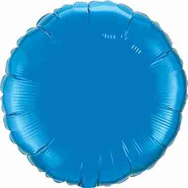 Sapphire Blue Foil Round 18in/45cm