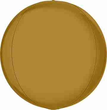 Satin Gold Globe 15in/38cm