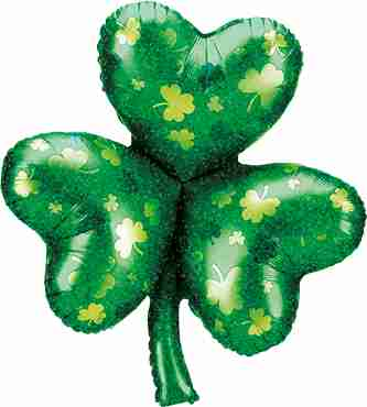 Shamrock Holographic Foil Shape 35in/89cm