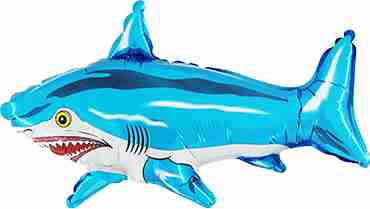Shark Blue Foil Shape 31in/78cm