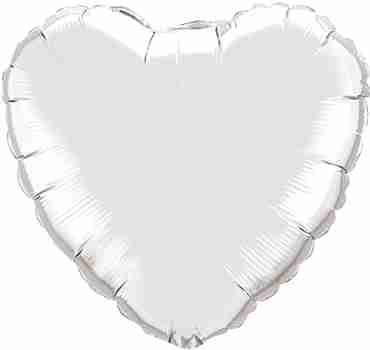 Silver Foil Heart 18in/45cm